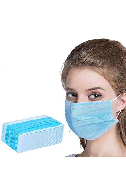 Commando 50 Adet Mavi Tek Kullanımlık Meltblown Kumaş 3 Katlı Cerrahi Koruyucu Yüz Maskesi