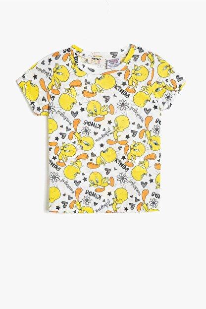 Koton Koton Kız Çocuk Sarı Looney Tunes Lisanslı Baskılı T-Shirt 0ykg17004gk