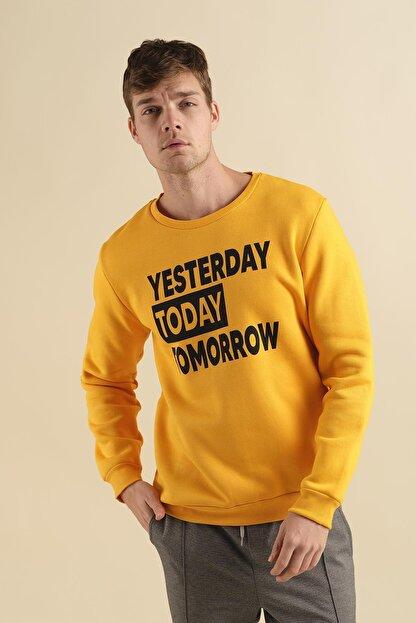 Oksit Coll City Yesterday Slim Fit Pamuklu Sweatshirt