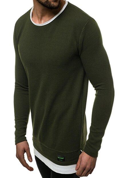 Oksit Mach Etek Yaka Garnili Ottoman Erkek Sweatshirt