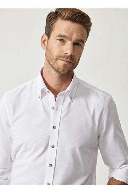Altınyıldız Classics Düğmeli Yaka Tailored Slim Fit Oxford Gömlek