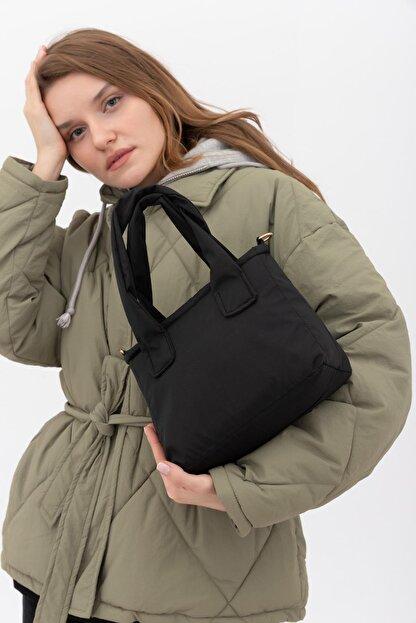 Shule Bags Kumaş Kadın Çapraz Çanta Taglıa Siyah