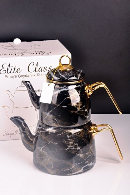 Bayev Elite Class Emaye Çaydanlık Desenli 200582