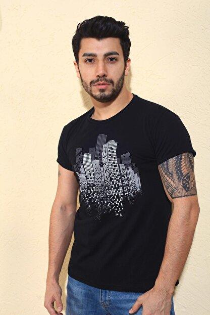 Oksit Cool City Zatan Extra Slim Fit Likralı Bisiklet Yaka Erkek Tshirt