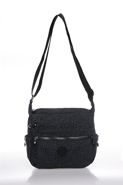 Smart Bags Smbk1056-0091 Puantiyeli/siyah Kadın Çapraz Çanta