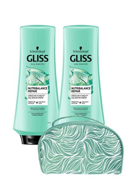 Gliss Nutribalance Saç Kremi 360 ml X2 Adet+makyaj Çantası