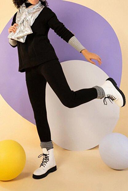 NARE Kadın Triko Siyah Pantolon Kazak Takım