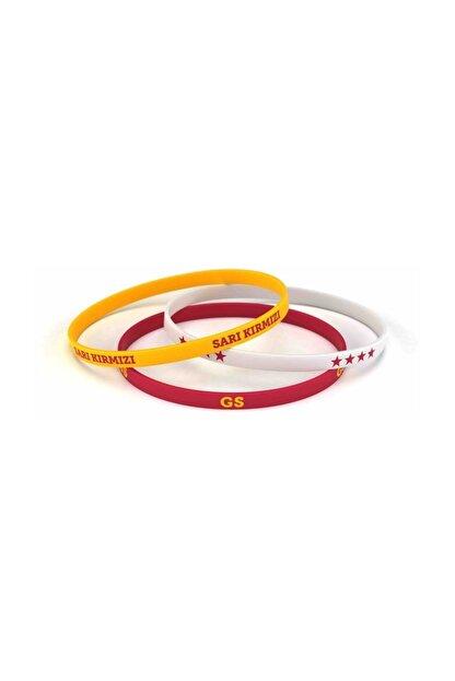 Galatasaray Gs Üçlü Bileklik Beyaz, Lisanslı Ürün
