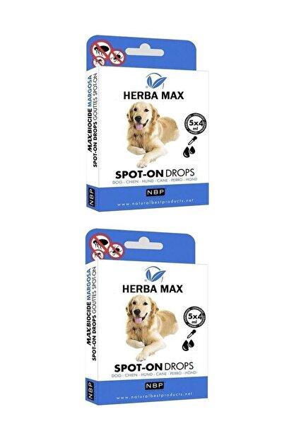 Herba Max Bitkisel Köpek Bit, Pire, Ense Damlası Dış Parazit 5x4 ml - 2 Adet