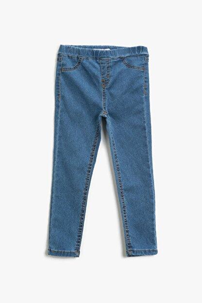 Koton Kız Çocuk Orta Indigo Jeans 1YKG47329OD