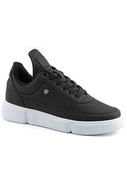 L.A Polo Erkek Siyah Renk Beyaz Taban Spor Ayakkabı 017
