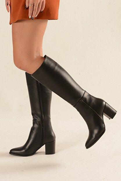 Nil Shoes Siyah Cilt Çizme - Morin