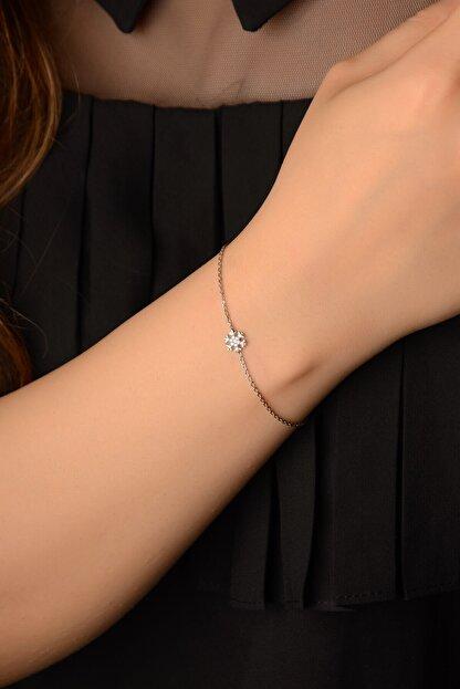 İn Dubai Silver Kadın Gümüş Kar Tanesi Bileklik Dbsk4082