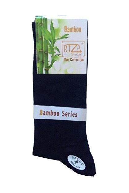 Bambu Rıza Savcıoğlu  Dikişsiz Erkek 12'li Çorap Siyah