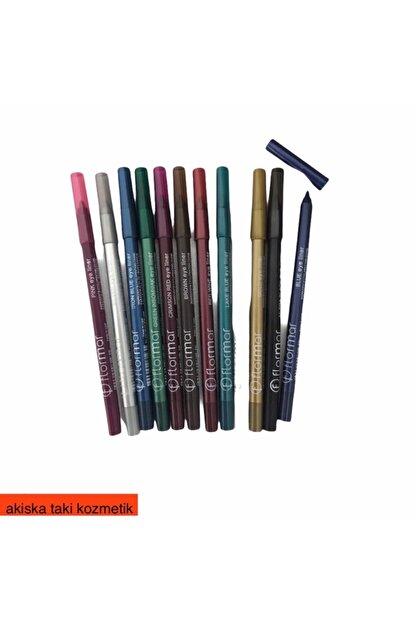 Flormar Akiska Takı Kozmetik Renkli Göz Kalemleri 12adet Set