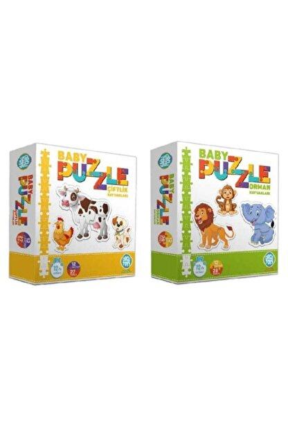 Circle Toys Baby Puzzle Çiftlik Orman 2'li Set