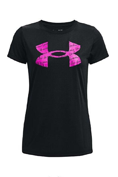 Under Armour Kadın Spor T-Shirt- Tech Solid BL SSC - 1365143-001
