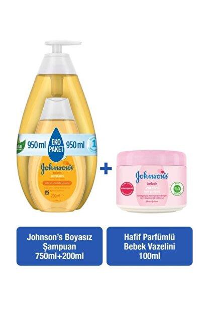 Johnson's Baby Johnson's Baby Şampuan 750+200 Ml + Hafif Parfümlü Bebek Vazelini 100 Ml