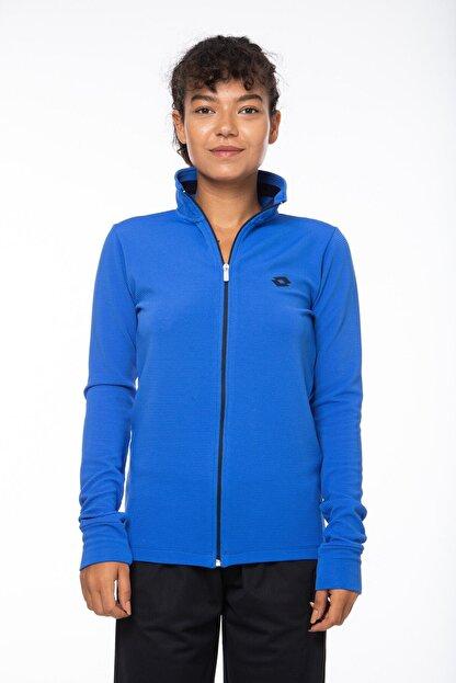 Lotto Sweatshirt Kadın Saks Mavi-lacivert-ottoman Sweat Fz Pl W-r9653
