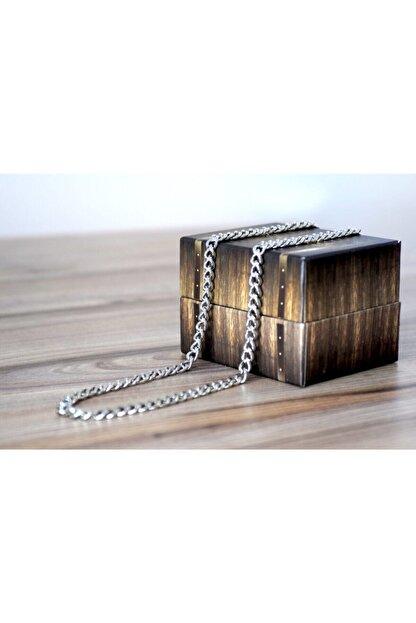 Petit Store Unisex Gümüş Model Uzun Zincir Kolye 70 cm