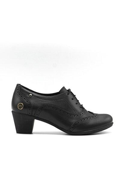Mammamia Kadın Siyah Günlük Deri Ayakkabı 3220b