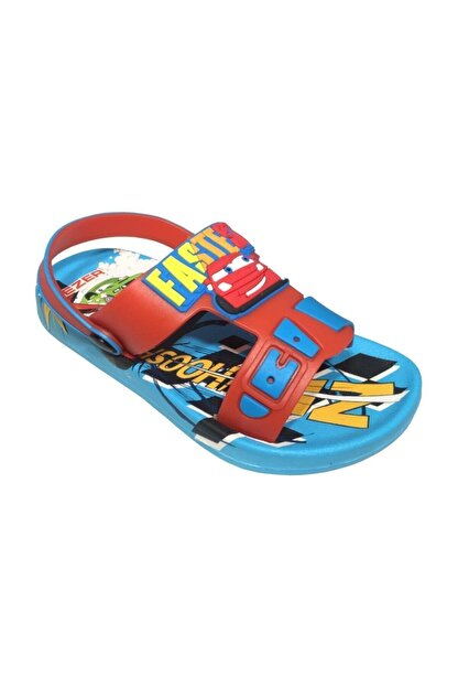 Gezer Kaymaz Taban Mavi Şimşek Mcqueen Temalı Çocuk Sandalet Terlik