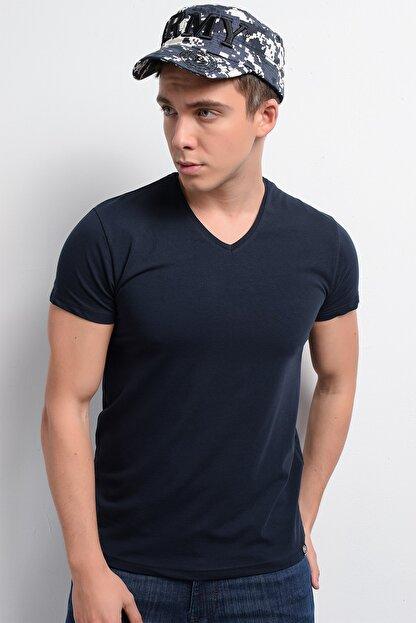 Rodi Jeans Rodi Rd19ye279973 Lacivert Erkek Lycra Süprem V Yaka T-shirt
