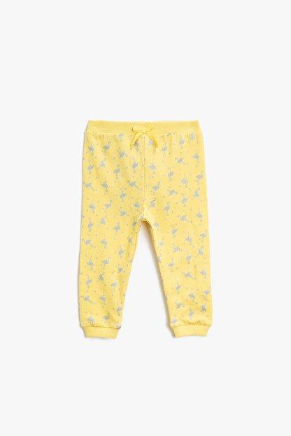 Koton Kız Bebek Sarı Eşofman Altı