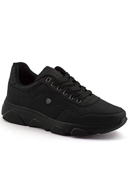 L.A Polo Erkek Siyah Renk Siyah Taban Spor Ayakkabı 019
