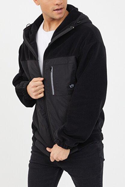 XHAN Siyah Polar Garnili Yağmurluk 1kxe4-44460-02