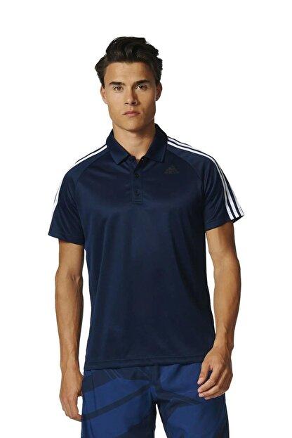 adidas Bp7224 D2m 3s Lacivert Polo Erkek T-shirt