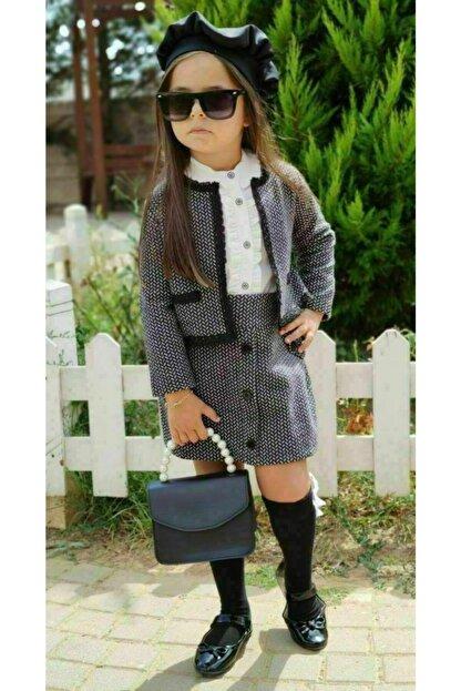Riccotarz Kız Çocuk Madam Cute Ekoseli Şort Etekli Takım
