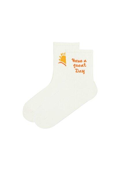 Penti Kadın Açık Sarı Cool Day Soket Çorap