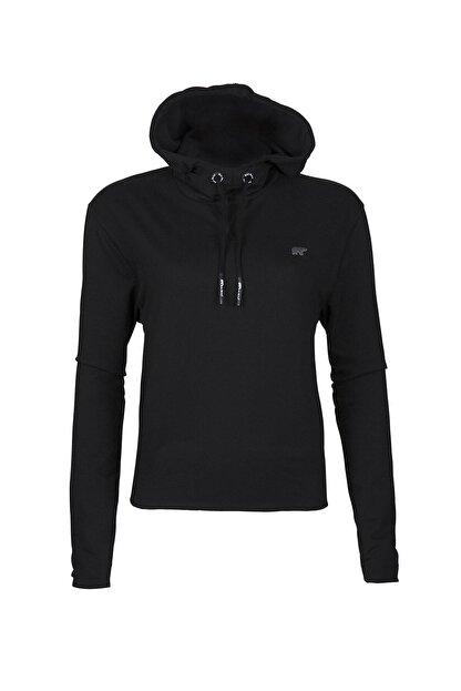 Bad Bear Kadın Siyah Eve Crop Sweatshirt