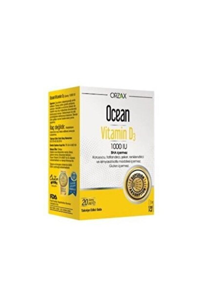 Ocean Orzax Vitamin D3 1000 Iu Sprey 20ml