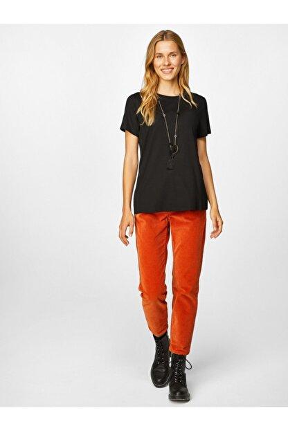 Faik Sönmez Kadın Yuvarlak Yaka Kısa Kol T-shirt