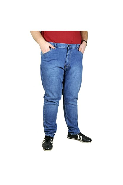 Modexl Büyük Beden Erkek Pantolon Kot Barbara 20905 Mavi