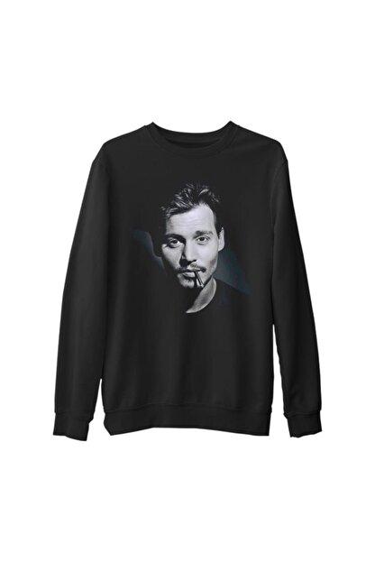 Lord T-Shirt Erkek Siyah Johnny Depp Kalın Sweatshirt