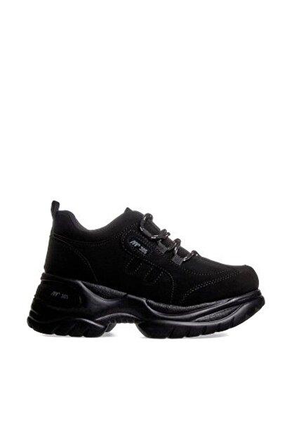 MP Kadın Dolgu Topuk Siyah Casual Ayakkabı 192-305zn 100