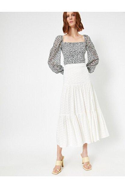 Koton Skirtly Yours Styled By Melis Agazat Firfir Detayli Etek