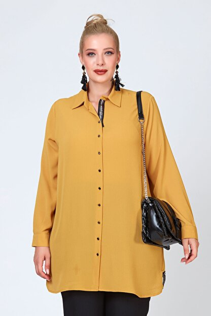 Büyük Moda Şeritli Tunik/gömlek