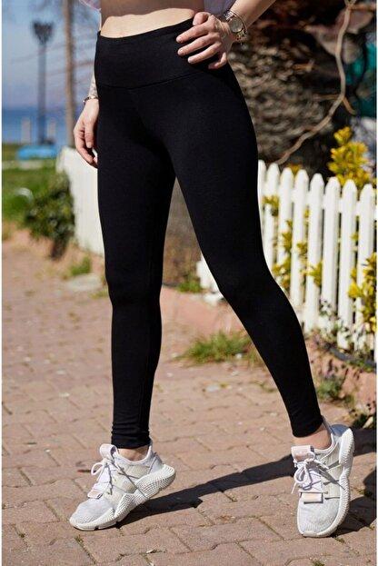 boffin Kadın Siyah Yüksek Bel Günlük Ve Sporda Kullanım Iç Göstermez Toparlayıcı Parlak Disco Tayt