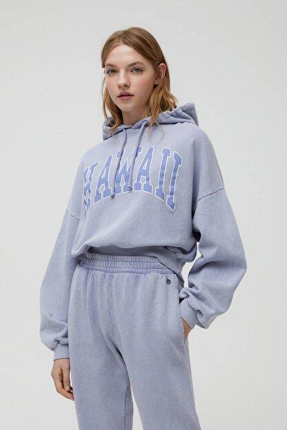 Pull & Bear Gri Hawaii Sweatshirt