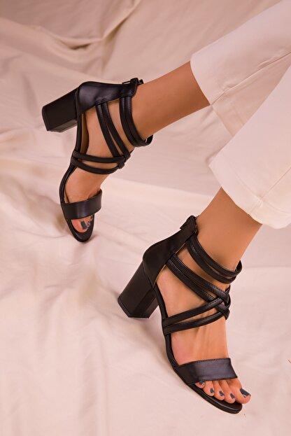 Soho Exclusive Sıyah Kadın Klasik Topuklu Ayakkabı 14670