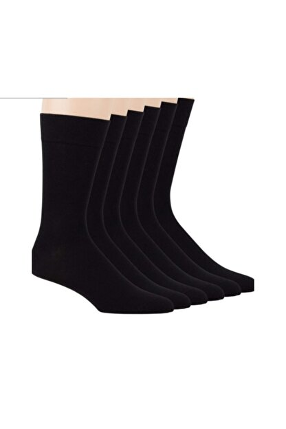 FENOMEN ÇORAP Erkek   Bambu Soket Çorap Siyah 12'li