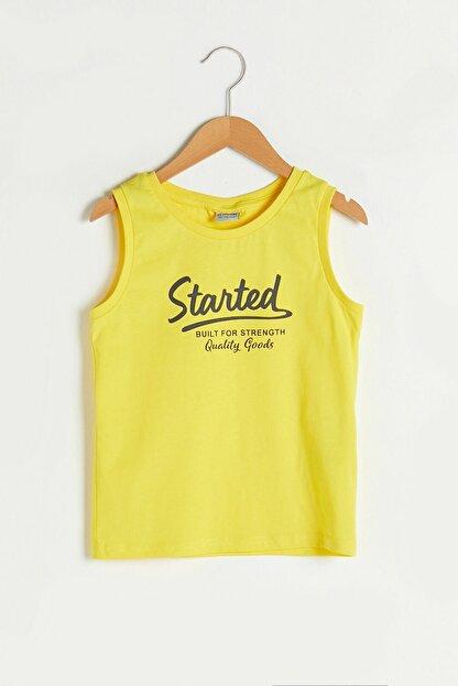LC Waikiki Erkek Çocuk Canlı Sarı Fxy T-Shirt