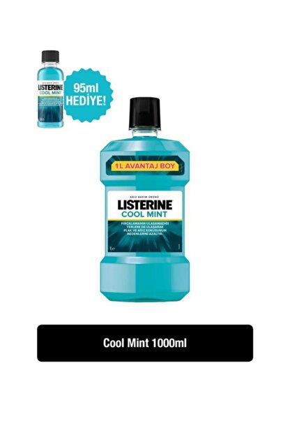 Listerine Coolmint 1000 Ml + Mouthwash-coolmınt 95 Ml