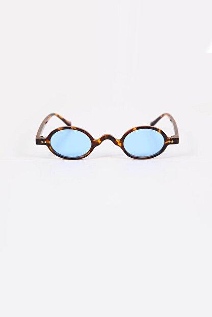 Kapin Küçük Leopar Çerçeveli Mavi Güneş Gözlüğü