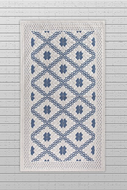 Bluenity Lilyum Doğal Pamuk Kilim 80x140cm