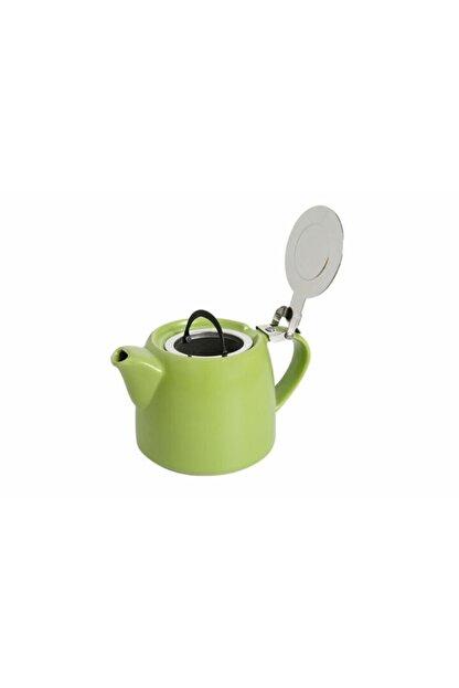 Porland Chai Süzgeçli Stoneware Demlik 600 Cc. -yeşil